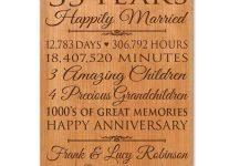 35 year anniversary gift 35 year wedding anniversary gifts gift ideas bethmaru