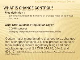 what is chagne made of best practices to implement an effective change control program compa