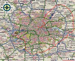 Map Of London England by Map Of London And Outskirts Deboomfotografie
