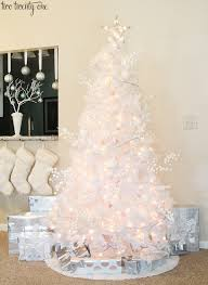 white tree silver decorations tree and