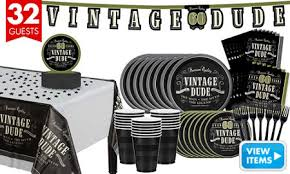60th birthday party ideas vintage dude 60th birthday party kit for 16 guests party city