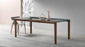 Contemporary Dining Table Contemporary Dining Table Walnut Glass Rectangular Lapsus