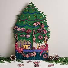 austrian christmas tree wooden advent calendar the met store
