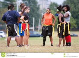 Flag Football Play Designer Female Flag Football Player Helps Teammate Get Up Editorial