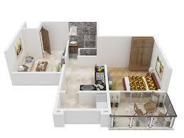 700 sq ft 1 bhk 1t apartment for sale in kolte patil umang