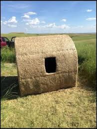 How To Make A Hay Bail Blind Hay Bale Blind Making Your Own