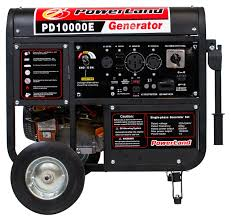 powerland 10000 watt portable gas generator 16 hp electric start