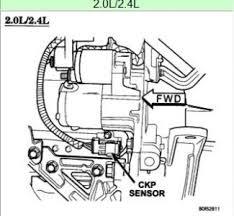 where is the crankshaft position sensor for 2004 pt cruiser turbo