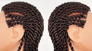 cornrow and twist hairstyle pics senegalese rope twist cornrows finished hairstyle part 3 of 4