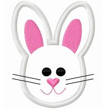 face clipart easter bunny pencil and in color face clipart