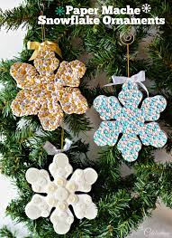 paper mache snowflake ornaments miss celebration
