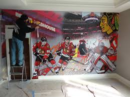Hockey Wall Mural Wall Murals Sticker Dude Designs