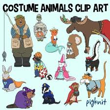 Skunk Halloween Costumes Halloween Costume Animals Clip Art Trick Treat Clipart Fox