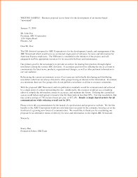 10 business proposal letter example project proposal