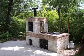 Patio Barbecue Designs Bathroom Building A Brick Bbq Smoker Charcoal Grill