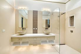 melbourne mirage glass tile bathroom contemporary with mirror