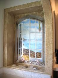 trick the eye windows trompe l oeil tromp loy 3 d realism trick the eye window scene trompe l oeil ocean through window scene by rik erickson in san diego california