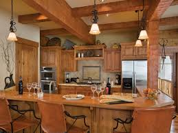 collection log home kitchen islands photos the latest