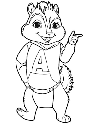 beautiful ideas alvin and the chipmunks coloring pages to print