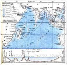 Indian Ocean Map Map Of The Indian Ocean Vintage Engraving U2014 Stock Photo