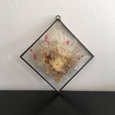 vintage glass pressed flower frame glass frame wall frame