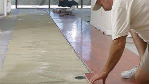glue wood flooring to a concrete slab homebuilding