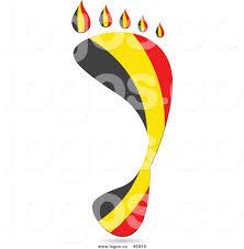 Belgia Flag Vector Royalty Free Clipart Belgium Flag Footprint Logo By Andrei