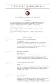 Product Marketing Manager Resume Example by Marketing U0026 Communications Manager Resume Samples Visualcv