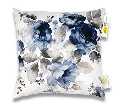 coussin imprime coussin d extérieur waterproof bleu blanc imprimé fleur 45x45cm 16