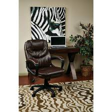work smart chocolate faux leather manager office chair fl660 u2