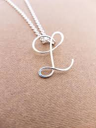 letter necklace jewelry images Sterling silver l initial necklace letter l necklace letter jpg