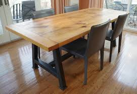 rustic oak kitchen table chagrin valley custom furniture rustic oak dining table