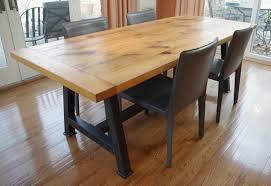 Rustic Oak Dining Tables Chagrin Valley Custom Furniture Rustic Oak Dining Table