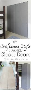 Diy Closet Door Diy Craftsman Style Closet Doors Shades Of Blue Interiors