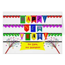 custom new year for grandson colorful flags fonts card new year s