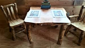 aspen wood 36 u2033 x 36 u2033 dining table small log cabins horse barns