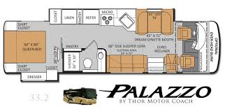 Rv Floor Plan Thor Motor Coach To Launch Floorplan Duo For Palazzo Diesel