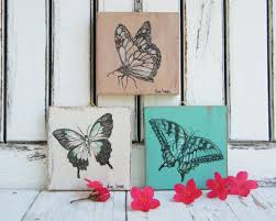 bedroom wall decor butterflies prints home decor set of 3