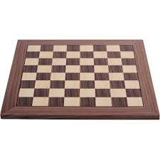 dgt walnut deluxe wood chess board 55 mm field 10842