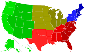 United States Regional Map by United States Map 5 Regions
