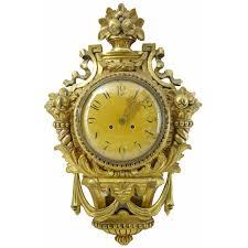 20th century swedish 1930s gilt carved wood wall clock at 1stdibs