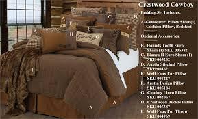 Rustic Comforter Sets Crestwood Rustic Cowboy Western Comforter Set
