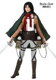 skeleton halloween costume for women deluxe attack on titan mikasa costume