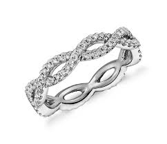 white gold eternity ring infinity twist eternity ring in 14k white gold 1 2 ct tw