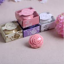 soap wedding favors 40 x pink purple white yellow wedding giveaway flower soap savon