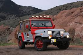 jurassic world jeep a list of all the jurassic park liveried vehicles i could find