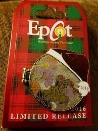 disney epcot 2016 holidays around the world figment ornament pin