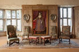 Tudor House Interior by Parham House Pulborough West Sussex Uk The Great Parlour