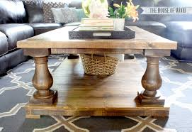 Free Wood End Table Plans by Ana White Balustrade Coffee Table Diy Projects