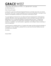 Resume Cover Letter Samples For Engineers by Software Engineer Cover Letter Examples It Cover Letter Samples
